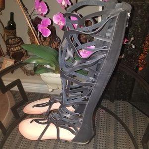 Gladiator tall sandals new